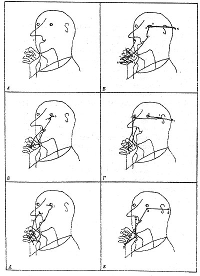Схема движения человеческого